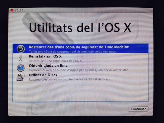Utilitats OSX