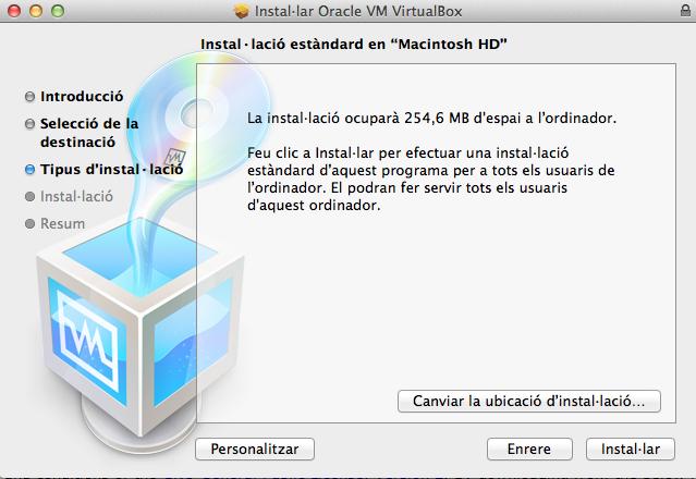 Instal·lació VirtualBox