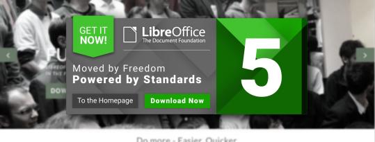 Ya disponible LibreOffice 5.0
