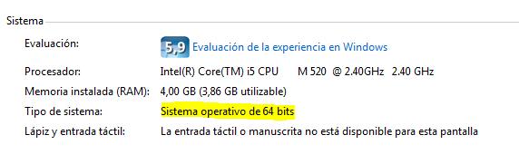 Windows de 32 o 64bits - Mantenimiento Informático para empresas en Barcelona - dactil