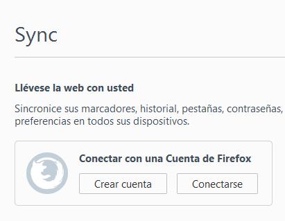 firefox sync - Mantenimiento Informático empresas Barcelona - dactil