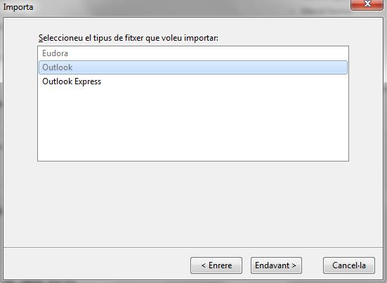 Com passar correus d'Outlook a Thunderbird - dactil manteniment informàtic